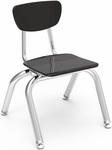 3000 Series Hard Plastic Stack Chair with 12''H Seat - 14.63''W x 15''D x 20.5''H [3012-VCO]