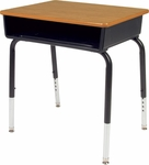 785 Series Hard Plastic Top Student Desk with Open Front Plastic Book Box - 24''W x 18''D x 22''H - 30''H [785M-VCO]