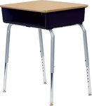 785 Series Laminate Top Student Desk with Open Front Plastic Book Box - 24''W x 18''D x 22''H - 30''H [785-VCO]