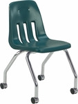 9000 Classic Series Mobile Chair with 18''H Polypropylene Seat - 18.63''W x 21''D x 30''H [9050-VCO]