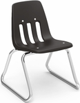 9000 Classic Series Sled Base Chair with 12''H Polypropylene Seat - 15''W x 14.75''D x 21''H [9612-VCO]