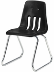 9000 Classic Series Sled Base Chair with 16''H Polypropylene Seat - 17.25''W x 18''D x 26.75''H [9616-VCO]