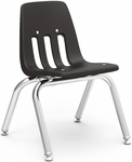 9000 Classic Series Stack Chair with 12''H Polypropylene Seat - 14.63''W x 15''D x 20.38''H [9012-VCO]