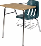 9000 Series Classic Student Combo Desk with Laminate Top and Bookrack - 24''W x 33.5''D x 30''H [9400BR-VCO]