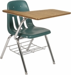 9000 Series Student Combo Desk with Right Handed Laminate Tablet Arm and Bookrack - 18.75''W x 31''D x 30.5''H [9700BR-VCO]