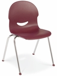 I.Q. Series Stack Chair with 13''H Plastic Seat - 16''W x 17''D x 23.88''H [264513-VCO]