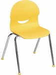 I.Q. Series Stack Chair with 15.5''H Plastic Seat - 18.75''W x 19''D x 28.25''H [264515-VCO]