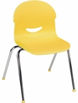 I.Q. Series Stack Chair with 17.5''H Plastic Seat - 21.25''W x 20.62''D x 32.25''H [264517-VCO]
