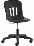 Quick Ship Metaphor Series Task Chair with Black Polypropylene Seat and Black Base - 24.13''W x 24.13''D x 28''H - 32.5''H [N9TASK18-BLK01-BLK01-VCO]