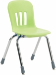 Metaphor Series Stack Chair with 14''H Polypropylene Seat - 15.38''W x 16.88''D x 24.63''H [N914-VCO]