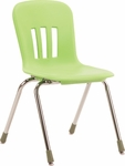 Metaphor Series Stack Chair with 18''H Polypropylene Seat - 19.63''W x 22.25''D x 31.13''H [N918-VCO]