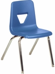 2000 Series Stack Chair with 18''H Seat with Chrome Frame - Blueberry - 18.75''W x 20''D x 30''H [2018-BLU40-CHRM-VCO]