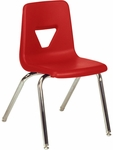 2000 Series Stack Chair with 18''H Seat with Chrome Frame - Red - 18.75''W x 20''D x 30''H [2018-RED70-CHRM-VCO]