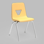 2000 Series Stack Chair with 18''H Seat with Chrome Frame - Squash - 18.75''W x 20''D x 30''H [2018-YLW47-CHRM-VCO]