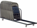 42 Capacity Single Tier Upright Chair Cart - 21''W x 100''D x 38.25''H [HCT8-VCO]