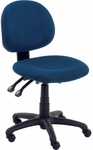 4300 Series Administrative Task Chair with Confetti Navy Fabric and Black Base - 19.75''W x 24''D x 33''H - 38''H [4301-BLU214-BLK01-VCO]