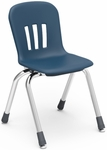 Metaphor Series Stack Chair with 14''H Polypropylene Seat and Chrome Frame - Navy - 15.38''W x 16.88''D x 24.63''H [N914-BLU51-CHRM-VCO]