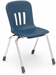 Quick Ship Metaphor Series Stack Chair with 16''H Polypropylene Seat and Chrome Frame - Navy - 18.38''W x 20.5''D x 28.25''H [N916-BLU51-CHRM-VCO]