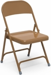 Multi-Purpose Steel Folding Chair with Golden Bronze Finish - 17.75''W x 18.62''D x 29.5''H [162-GLD91-VCO]