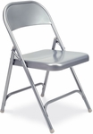Quick Ship Multi-Purpose Steel Folding Chair with Silver Mist Finish - 17.75''W x 18.62''D x 29.5''H [162-GRY02-VCO]