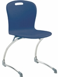 Sage Series Cantilever Chair with 18.25''H Polypropylene Seat and Chrome Frame - Navy - 20''W x 21''D x 34''H [SGCANT18-BLU51-CHRM-VCO]