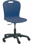 Sage Series Task Chair with Navy Seat - 24.13''W x 24.13''D x 32''H - 36.5''H [SGTASK18-BLU51-BLK01-VCO]