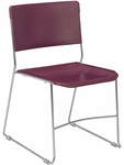 Ultra Stack Multi-Purpose Stack Chair with Chrome Frame - Wine - 20.13''W x 22''D x 31.5''H [4100-RED50-CHRM-VCO]