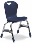 Quick Ship ZUMA Series Chair with 13''H Polypropylene Seat and Chrome Frame - Navy - 15.38''W x 14.87''D x 23.25''H [ZU413-BLU51-CHRM-VCO]