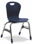 Quick Ship ZUMA Series Chair with 15''H Polypropylene Seat and Chrome Frame - Navy - 17.38''W x 16.5''D x 26.87''H [ZU415-BLU51-CHRM-VCO]
