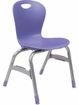ZUMA Series Chair with 15''H Polypropylene Seat - 17.38''W x 16.5''D x 26.87''H [ZU415-VCO]