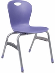 ZUMA Series Chair with 18''H Polypropylene Seat - 20.38''W x 20.87''D x 32.25''H [ZU418-VCO]