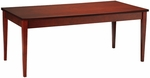 Luminary 72'' W Desk with Built In Center Drawer - Cherry on Cherry Veneer [LTD72C-FS-MAY]