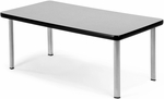 Magazine Table with Four Silver Legs - Gray [ET2040-GRY-SLG-FS-MFO]