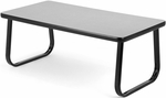 Magazine Table with Sled Base - Gray [TABLE2040-GRY-FS-MFO]