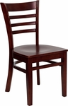 Mahogany Finished Ladder Back Wooden Restaurant Chair [BFDH-8241MM-TDR]