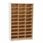 Heavy Duty Mailbox Storage and Distribution Center with Thirty Storage Shelves - Assembled - 30''W x 15''D x 49''H [33300-WDD]