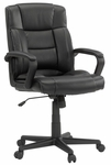 Gruga Bonded Leather Managers Chair - Black [414345-FS-SRTA]