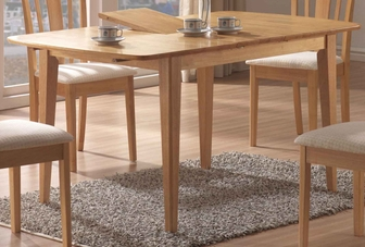 casual 60''w x 36''d dining table with 12'' butterfly leaf - maple