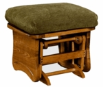 Maple Wood 18''H Ottoman with Solid Side Panel - Maple Finish [1505-FS-BFM]