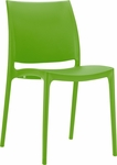 Martinique Lightweight Indoor/ Outdoor Stackable Side Chair - Green [025-6083-ATC]
