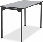 Maxx Legroom Wood 24'' W x 48'' D Folding Table - Gray [65807-ICE]