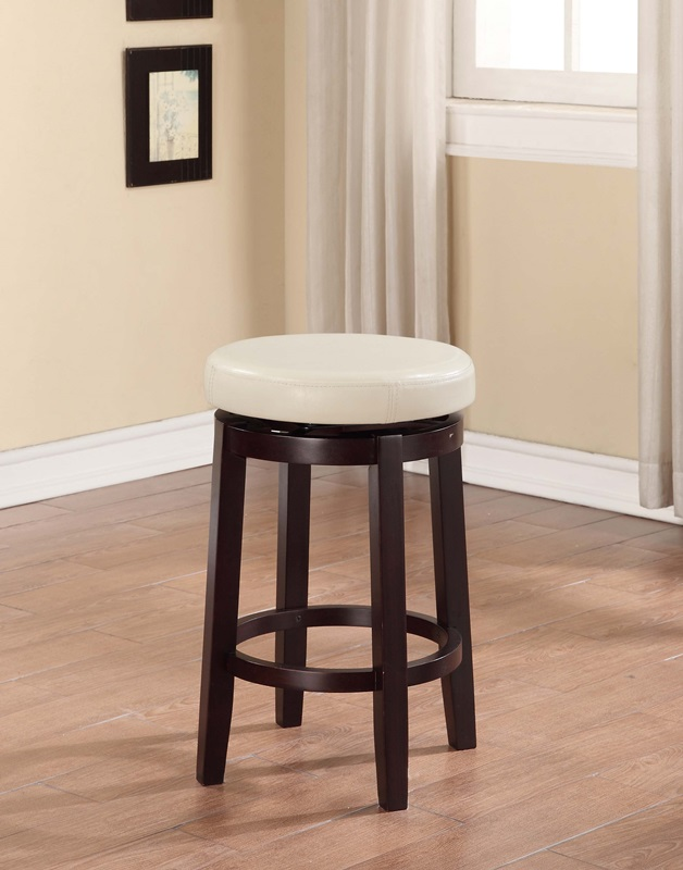 Maya 24 H Counter Height Backless Swivel Stool With