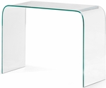 Mecca Console Table with Clear Glass [404128-FS-ZUO]