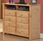 Rustic Style 44''W x 18''D Solid Pine Media Chest - Caramel [3534539-C-FS-CHEL]