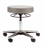 Medical Stool with Ring Activated Seat Adjustment - Chrome Base [D65-FS-UC]