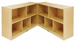 Birch 30''H Fold and Lock Cabinet with Ten 12'' Deep Compartments - Natural Finish [ELR-0423-ECR]