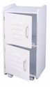 Kids Toys Books and Clothes Storage Medium Wooden Two Door Locker - White