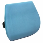 Memory Foam Massaging Lumbar Cushion with Heat - Spa Blue [60-2816B21-FS-COM]