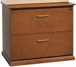 OSP Furniture Mendocino Hardwood Veneer Lockable Lateral File with Drawer Pulls [MEN12-FS-OS]