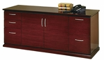 OSP Furniture Mendocino Hardwood Veneer Storage Credenza with Five Drawers and Drawer Pulls [MEN10-FS-OS]